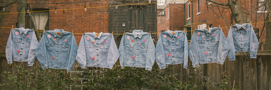 bentgablenits levis collection interview vintage clothing 501 jeans trucker jackets upcycling upcycle recycle deadstock denim lvc flowers