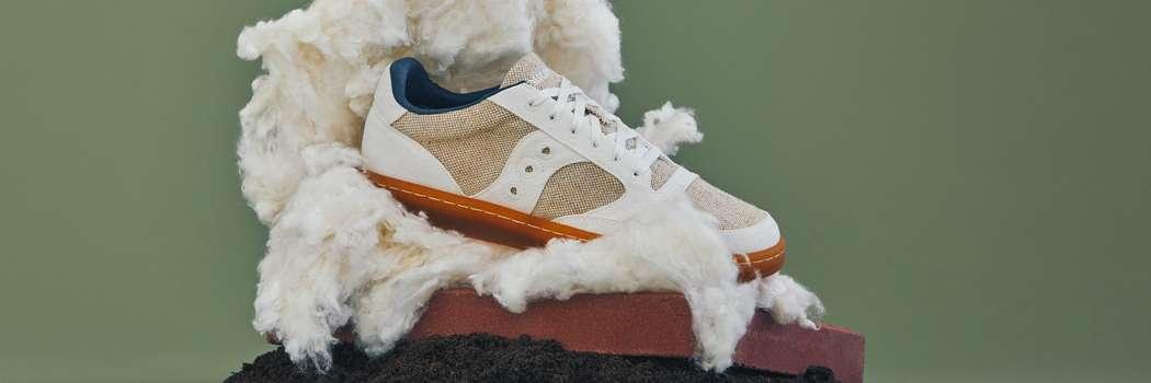 saucony jazz court rfg release natural sustainable sneakers twfb shoe beet cotton jute wool rubber wood gardenia 0 plastic