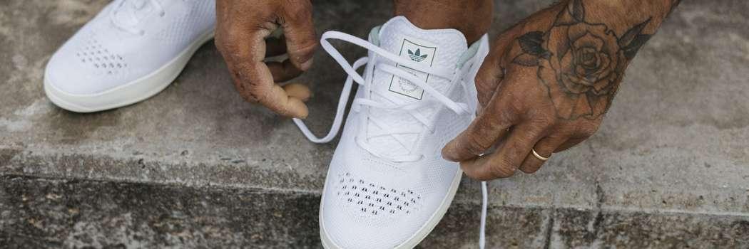 Adidas Lucas puig primeknit pk primeblue primegreen parley plastic waste recycled skateboarding sneakers palace white