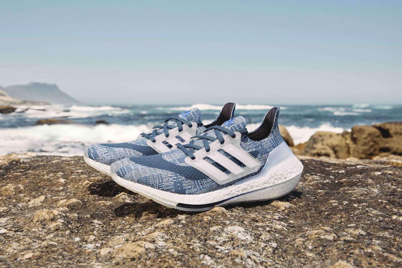 Adidas parley ultraboost 21 rebo smart water bottle run for the oceans plastic waste Primeblue ocean day world running sneakers shoes app