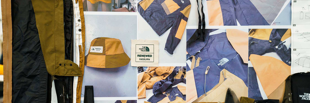 Christopher raeburn the north face renewed drop 2 clothing collection upcycle deadstock unused stock damaged jackets bags men women skirt shirt hat