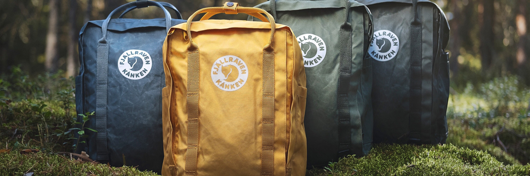 fjallraven tree kanken bags pine weave material wood pulp collection backpacks sustainable fabric