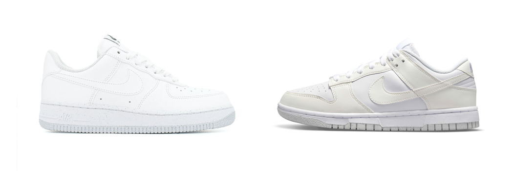 nike dunk air force 1 next nature white coral pink move to zero recycled materials vegan sneakers DD1873 101 METALLIC SILVER DC9486 100 07 af1 DC9486 DD1873 sunburst womens sail