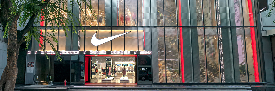 nike rise seoul korea store recycling donation repair move to zero south sustainable sustainability recycling donating repairing repairs customizations digital technology concept