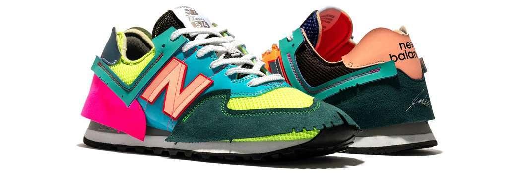 Jaden smith new balance 574 surplus recycled materials virgin content multicolor ML574JSA mesh sneakers