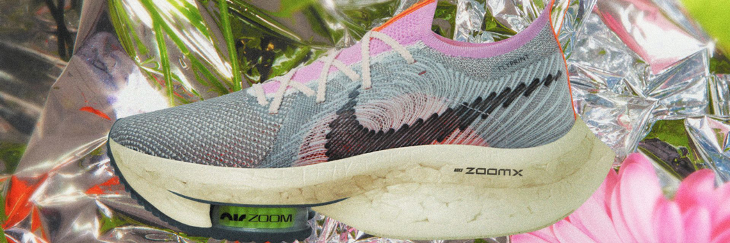 nike air zoom alphafly next nature most sustainable performance sneaker recycled materials sustainability move to zero shoe content plastic bottles fly print flyknit carbon fiber running