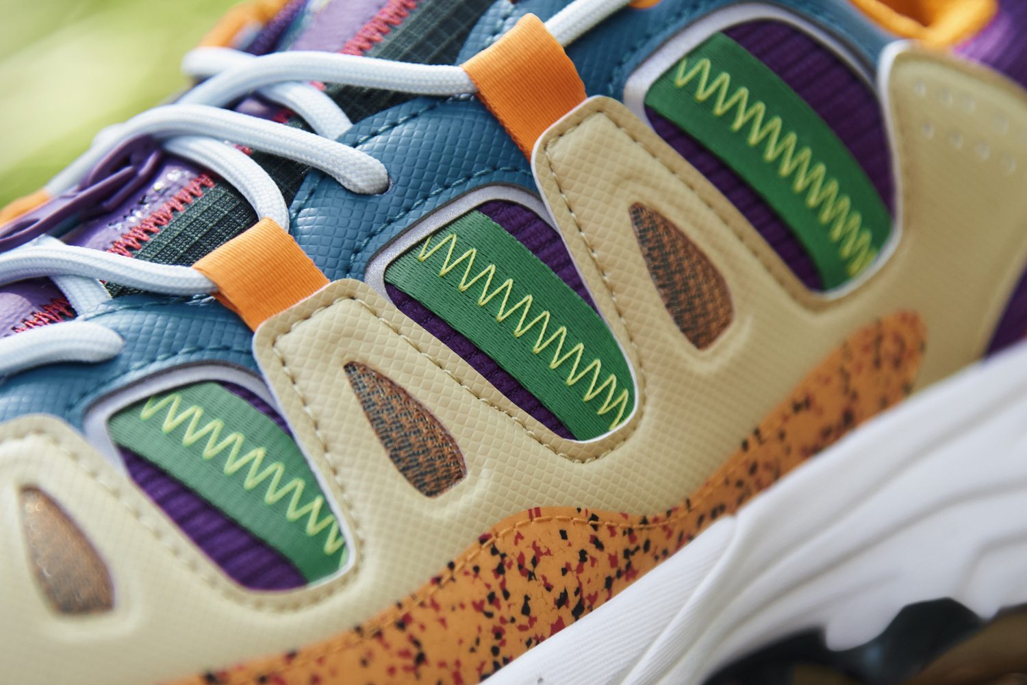 Sean-wotherspoon Adidas originals superturf adventure sw jiminey cricket disney vegan sneakers release zipper pouch purple blue green orange recycled polyester materials
